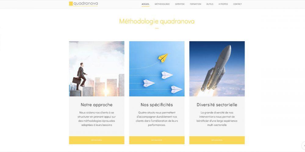 Portfolio webdesign pour quadranova
